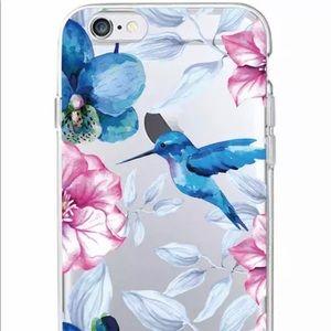 Iphone cute floral hummingbird case for 7/8 plus
